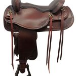 17.5inch Used Big Horn Draft Horse Saddle 1683