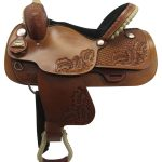 15inch Used Big Horn Medium Barrel Saddle_ Floor Model usbh3363