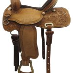 15inch Used Big Horn Medium Barrel Saddle_ Floor Model usbh3370