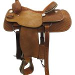 15.5inch Used Billy Cook Wide Roper Saddle_ Floor Model usbi3352