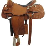 16inch Used Billy Cook Wide Roper Saddle_ Floor Model usbi3355