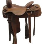 16.5inch Used Calvin Allen Wide Cutting Saddle 1273802FQRTM