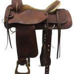 16inch Used Cecil Phillips Medium Roper Saddle uscp3348