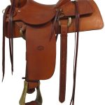 13.5inch Used Chuck Treon Ranch Saddle 02267