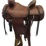 Used 15inch Circle Y Outfitter Ranch Saddle_ Wide Seat uscy3284