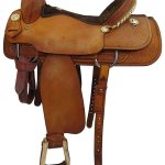17inch Used Double J Custom Wide Roper Saddle