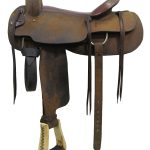 17inch Used Longhorn Cutting Saddle 435