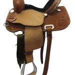 13.5inch Used Teskeys Custom Medium Barrel Saddle