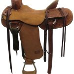 16.5inch Used Teskeys Custom Medium Ranch Saddle