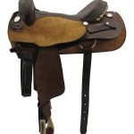 16inch Used Tex Tan Medium Cutting Saddle 06087