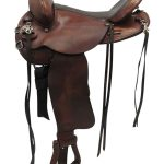 15.5inch Used Tex Tan Medium Trail Saddle 08-TF901S55