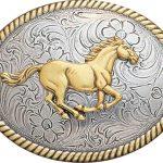 Nocona Vintage Western Buckle – Running Horse