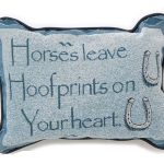 Pillow Horses Leave Footprints in Your Heart 87-3838 (HSS)