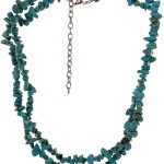 Green Stone Turquoise Western Necklace from M & F