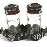 Western Moments Longhorn Spur 3-piece Salt & Pepper Caddy Set 94554