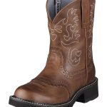 Ariat Womens Fatbaby Saddle Boots Fatbaby Toe Russet Rebel 0860
