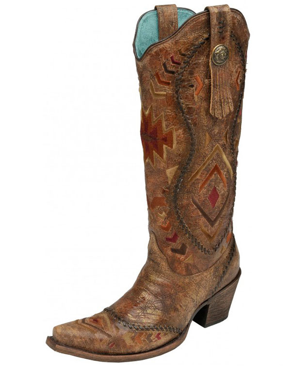 womens-corral-cognac-multicolor-ethnic-pattern-whip-stitch-boots