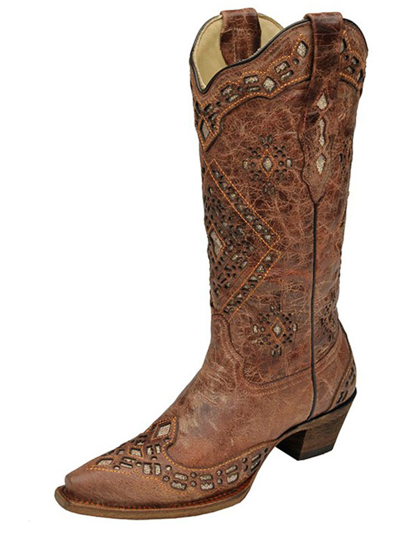 womens-corral-cognac-sand-glitter-inlay-boots