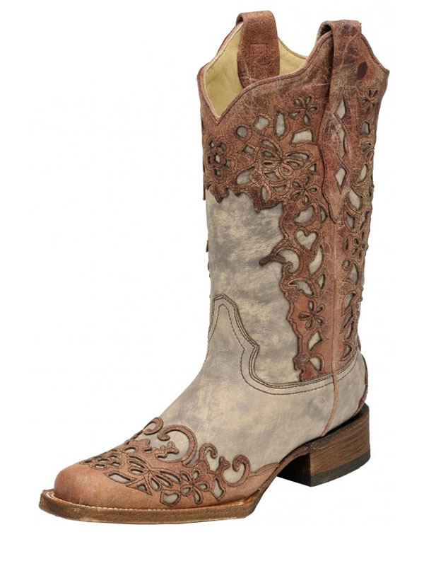 womens-corral-sand-cognac-laser-overlay-square-toe-boots