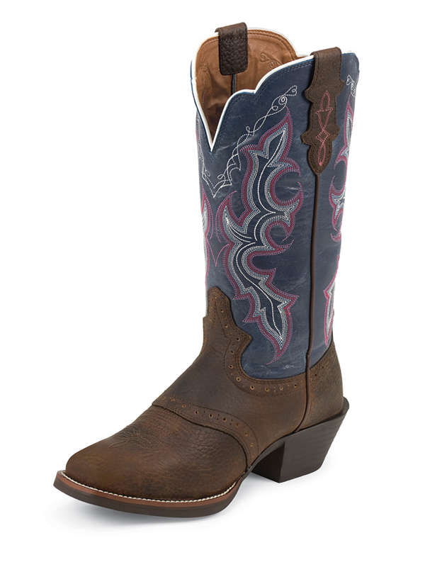 womens-justin-boots-dark-brown-rawhide