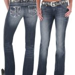Wrangler Womens Rock 47 Ultra Low Rise Jeans Perfect Poison DISCONTINU
