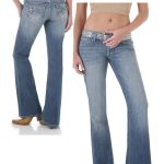 Womens Wrangler Rock 47 Ultra Low Rise Jeans Texas Lily WHX88TL-DISCON