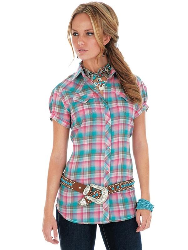 wrangler-womens-pinkplaid-shirt