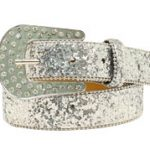 Ariat Youth Silver Glitter Belt A1303036