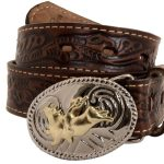 Youth Brown Belt with Buckle by Nocona Belt Co.